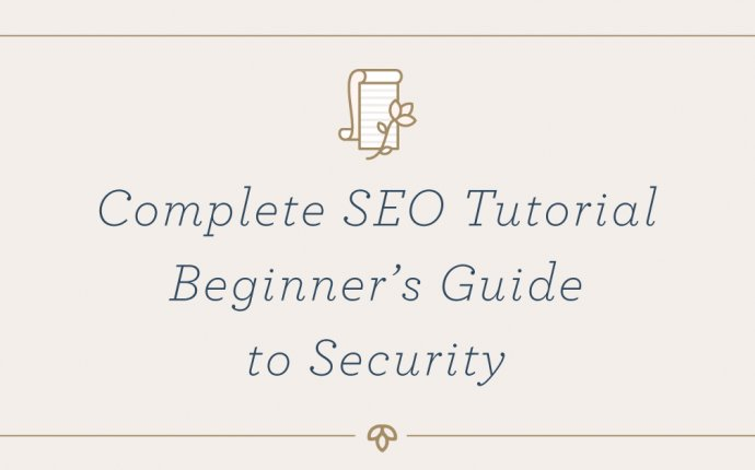 Complete SEO Tutorial Chapter 1: Beginner s Guide to Security