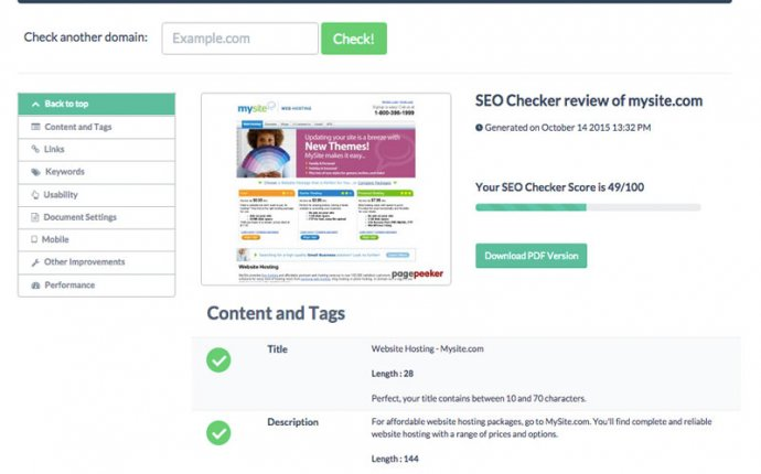 SEO Checker - Check your website s SEO. Improve your rankings