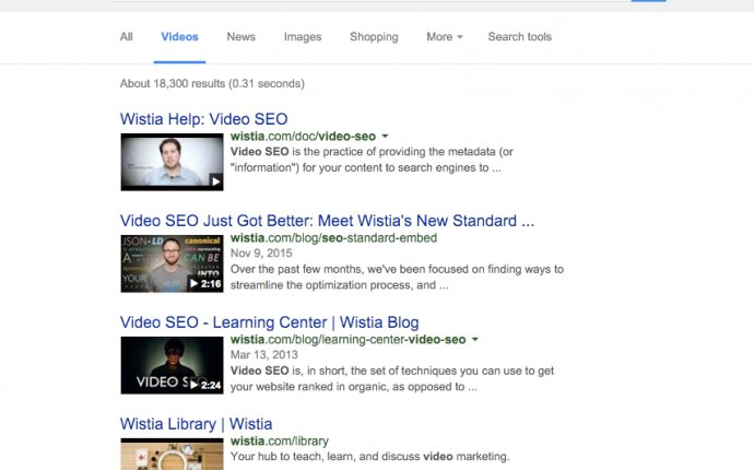 Wistia Help: Video SEO
