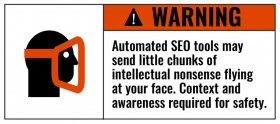 Automated SEO Warning