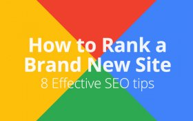 How to rank a new website
